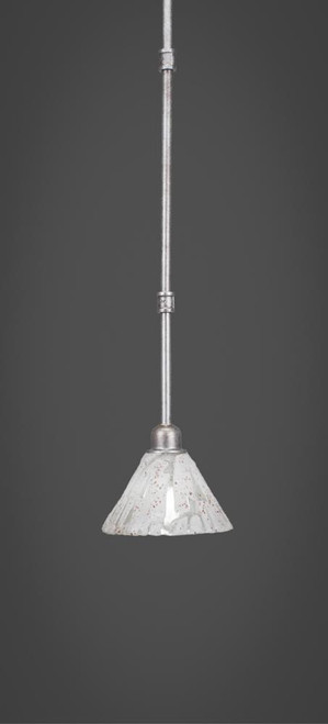 Vintage 1 Light White Mini-Pendant Light-284-AS-7195 by Toltec Lighting