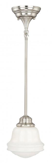 Huntley 1 Light White Mini-Pendant Light-P0154 by Vaxcel Lighting