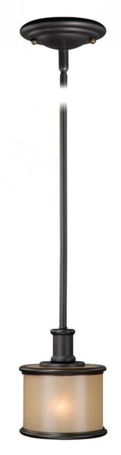 Carlisle 1 Light Opal Mini-Pendant Light-CR-PDD060NB by Vaxcel Lighting