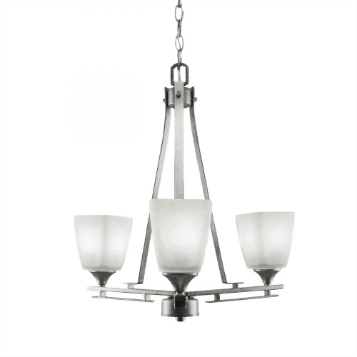 Uptowne 3 Light White Chandelier-323-AS-460 by Toltec Lighting