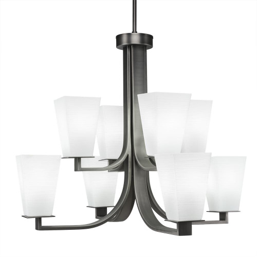 Apollo 8 Light White Chandelier-578-GP-671 by Toltec Lighting