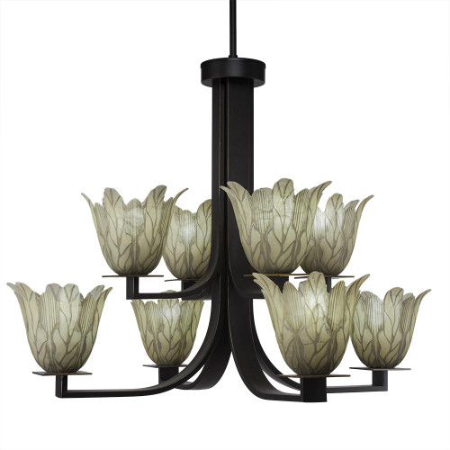 Apollo 8 Light Gray Chandelier-578-DG-1025 by Toltec Lighting