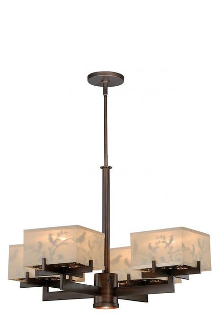 Aviary 5 Light Cream Chandelier-H0041 by Vaxcel Lighting