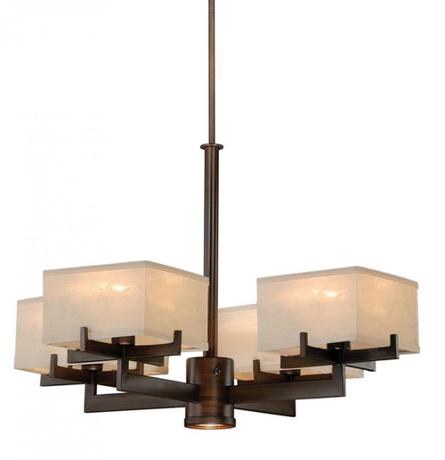 Canvas 4 Light Cream Chandelier-H0043 by Vaxcel Lighting