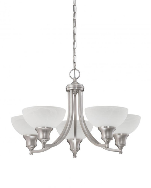 Alton 5 Light Silver Chandelier-F5455-53 by Sunset Lighting