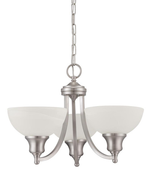 Alton 3 Light Silver Chandelier-F5453-53 by Sunset Lighting