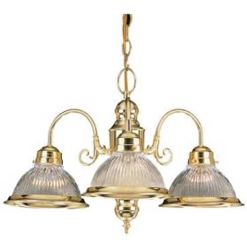 3 Light Silver Chandelier-F5501-53 by Sunset Lighting