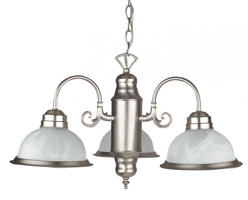 3 Light Silver Chandelier-F5503-53 by Sunset Lighting