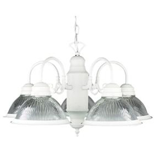 5 Light Silver Chandelier-F6313-53 by Sunset Lighting