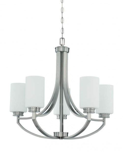 Dalton 5 Light Gray Chandelier-F18005-80 by Sunset Lighting