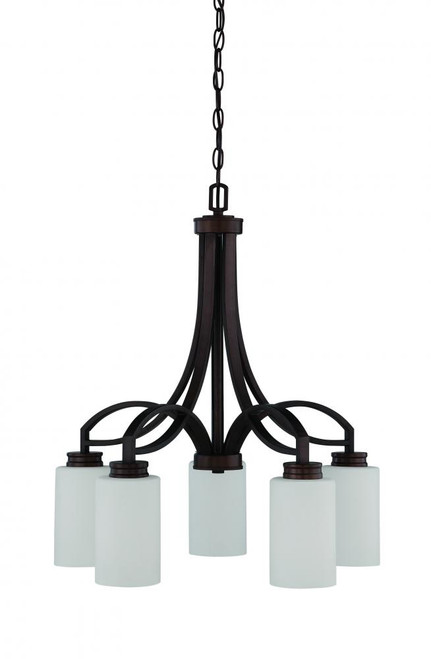 Dalton 5 Light Black Chandelier-F18006-64 by Sunset Lighting