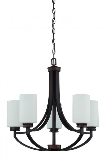 Dalton 5 Light Black Chandelier-F18005-64 by Sunset Lighting