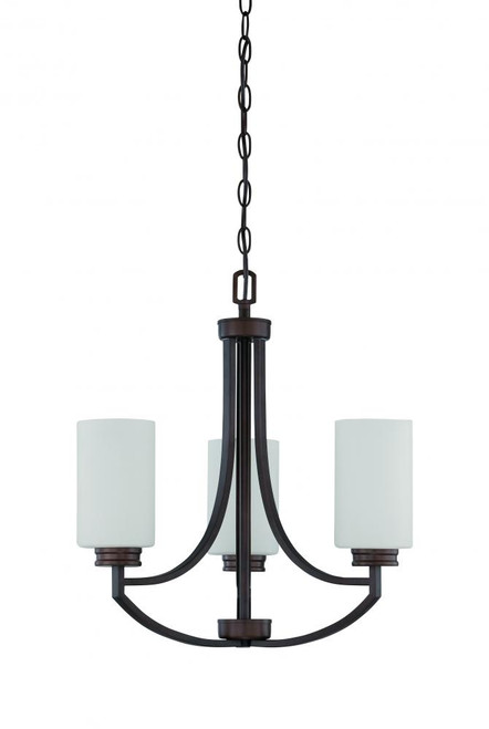 Dalton 3 Light Black Chandelier-F18003-64 by Sunset Lighting
