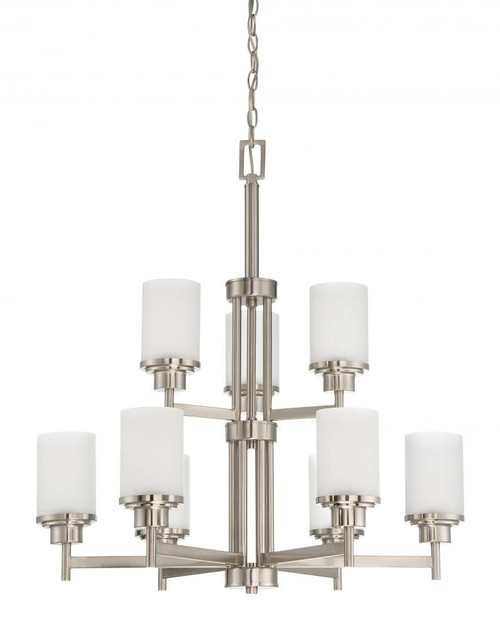Somes 9 Light Silver Chandelier-F17029-80 by Sunset Lighting