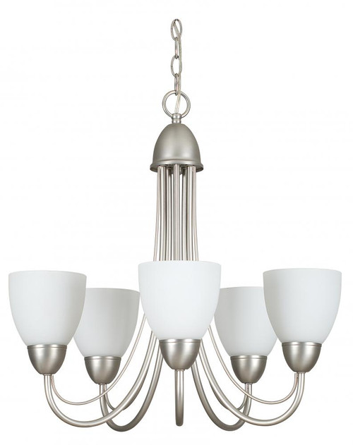 Tempest 5 Light Silver Chandelier-F2485-53 by Sunset Lighting
