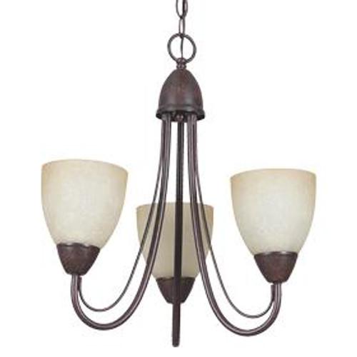 Tempest 3 Light Silver Chandelier-F2483-53 by Sunset Lighting