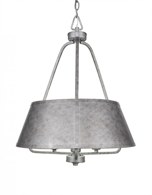 Sonora 3 Light Silver Chandelier-1126-AS by Toltec Lighting