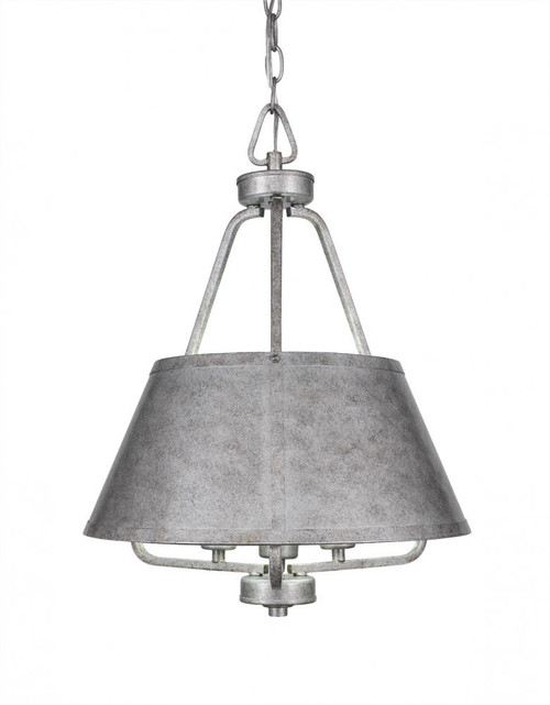 Sonora 3 Light Silver Chandelier-1124-AS by Toltec Lighting