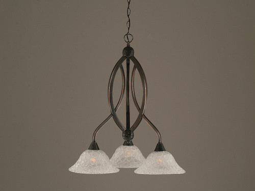 Bow 3 Light White Chandelier-263-BC-431 by Toltec Lighting