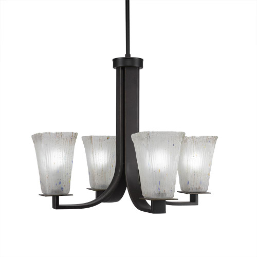 Apollo 4 Light White Chandelier-574-DG-631 by Toltec Lighting