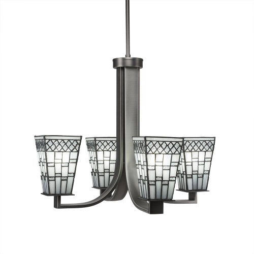 Apollo 4 Light Pewter Chandelier-574-GP-9104 by Toltec Lighting