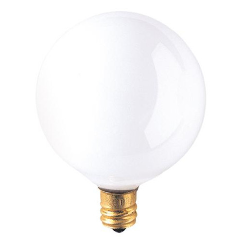 Bulbs & Accessories By Bulbrite 60W G16 GLOBE INSIDE WHITE E12 130V 310160