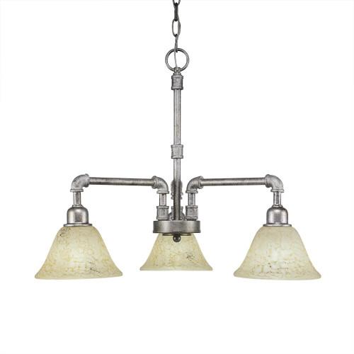 Vintage 3 Light Beige Chandelier-283-AS-508 by Toltec Lighting