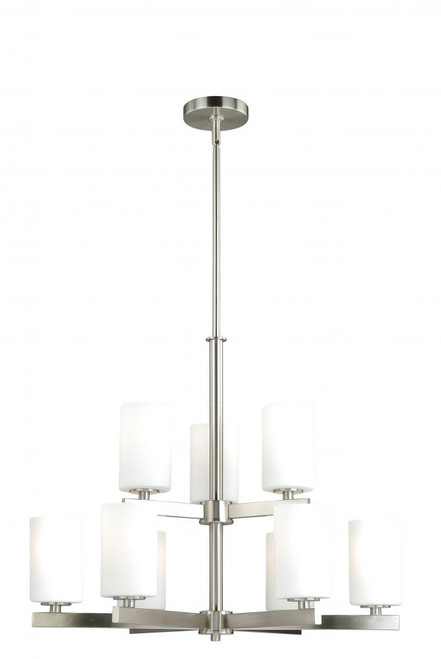Glendale 9 Light Opal Chandelier-H0123 by Vaxcel Lighting