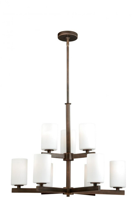Glendale 9 Light Opal Chandelier-H0124 by Vaxcel Lighting