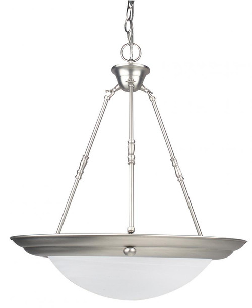 1 Light Silver Pendant Light-F7679-53 by Sunset Lighting
