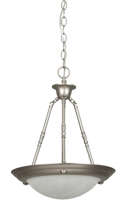 1 Light Silver Pendant Light-F7676-53 by Sunset Lighting