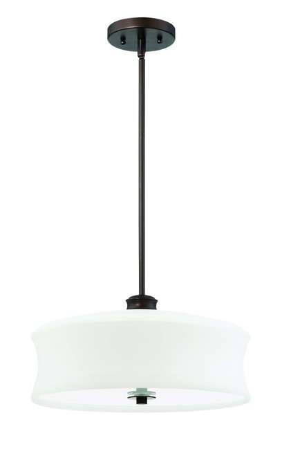 Amala 3 Light Black Pendant Light-F20004-64 by Sunset Lighting