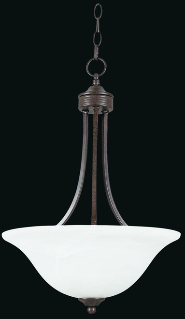 3 Light Black Pendant Light-F5161-54 by Sunset Lighting