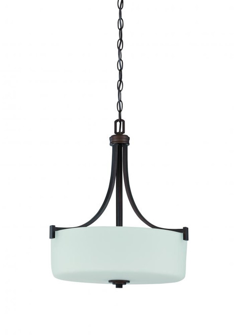 Dalton 3 Light Black Pendant Light-F18007-64 by Sunset Lighting