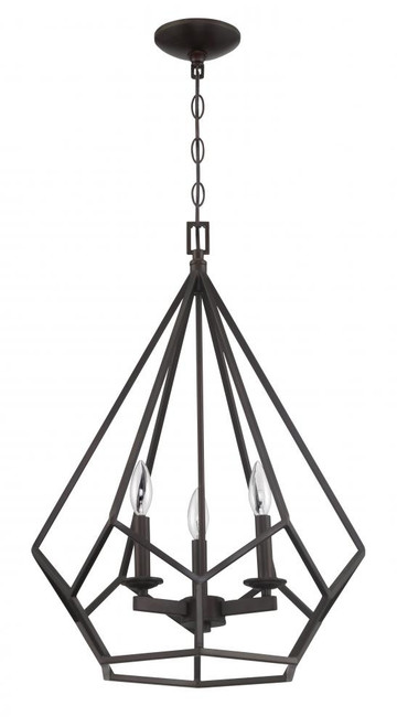 Lyric 3 Light Gold Pendant Light-F3423-64 by Sunset Lighting