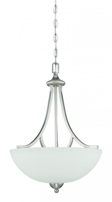 Preston 3 Light Gray Pendant Light-F16086-80 by Sunset Lighting