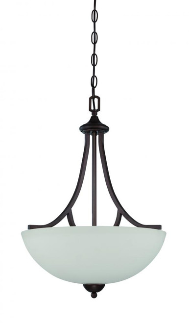 Preston 3 Light Black Pendant Light-F16086-64 by Sunset Lighting