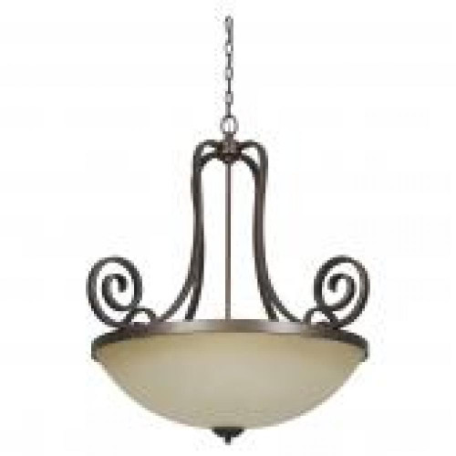 Provano 3 Light Brown Pendant Light-F5276-26 by Sunset Lighting