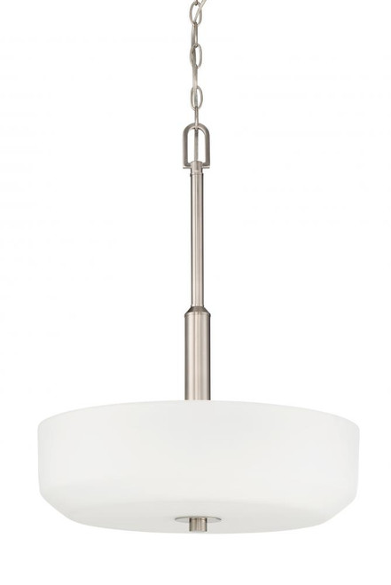 Quartz 3 Light Silver Pendant Light-F19027-80 by Sunset Lighting