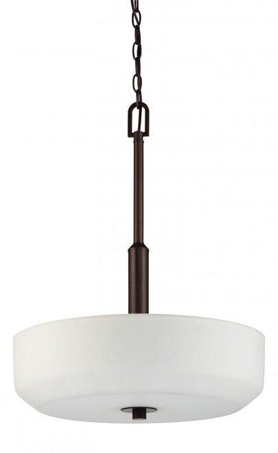 Quartz 3 Light Black Pendant Light-F19027-64 by Sunset Lighting