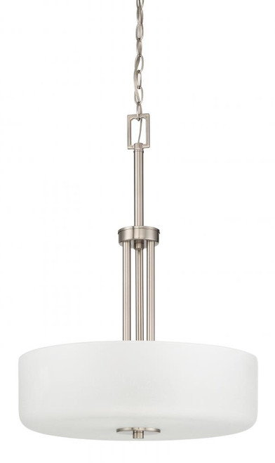 Somes 3 Light Silver Pendant Light-F17027-80 by Sunset Lighting