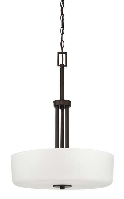 Somes 3 Light Black Pendant Light-F17027-64 by Sunset Lighting