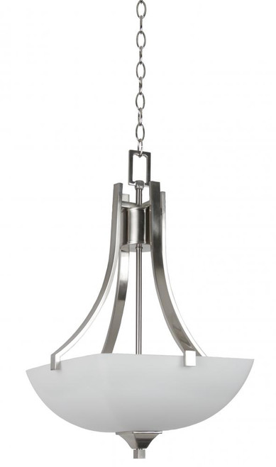 Starling 3 Light Silver Pendant Light-F19007-80 by Sunset Lighting