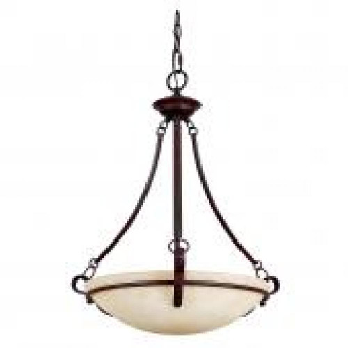 Venice 3 Light Bronze Pendant Light-F5494-62 by Sunset Lighting