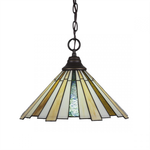 1 Light Tan Pendant Light-10-DG-933 by Toltec Lighting