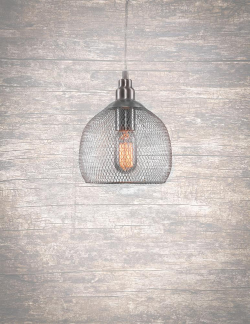 Plexus 1 Light Silver Pendant Light-1802-BN-ST14 by Toltec Lighting