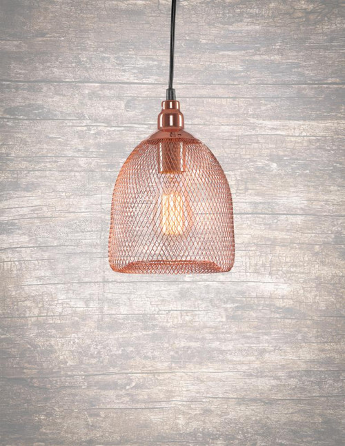 Plexus 1 Light Copper Pendant Light-1803-CP-AT18 by Toltec Lighting