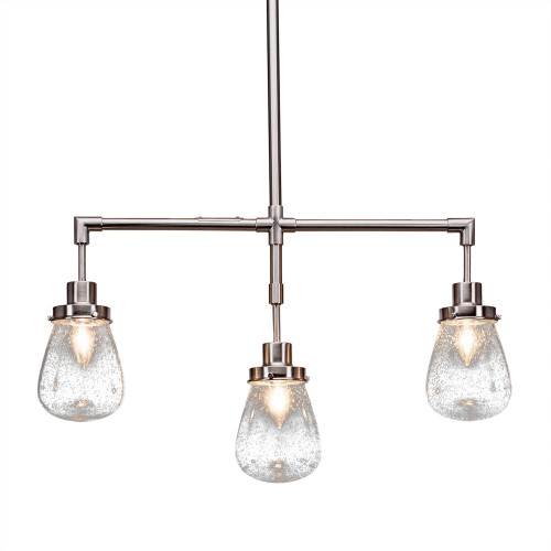 Meridian 3 Light Silver Pendant Light-1243-BN-471 by Toltec Lighting