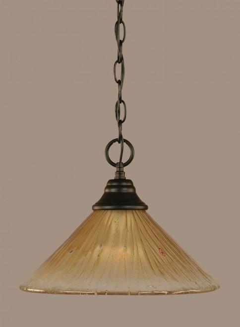 1 Light Amber Pendant Light-10-MB-700 by Toltec Lighting