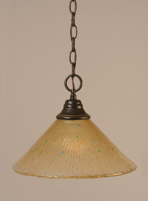 1 Light Amber Pendant Light-10-DG-700 by Toltec Lighting